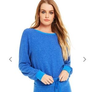 Wildfox Blue Sweatshirt Baggy Beach Jumper
